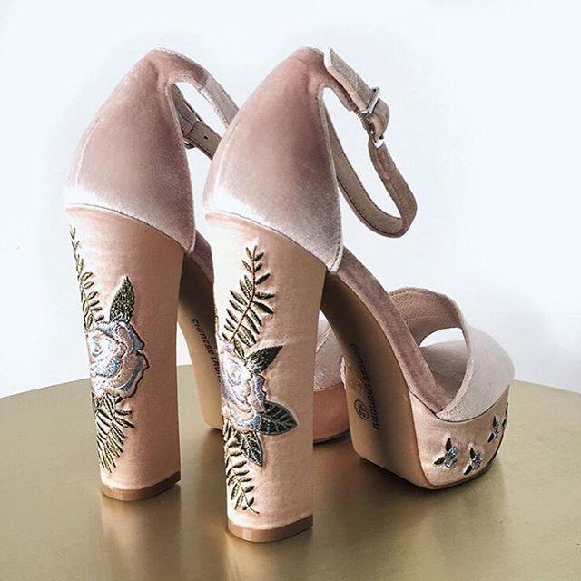 Velvet Nude Platform Sandals