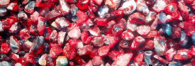 Raw ruby and sapphire in Mogok