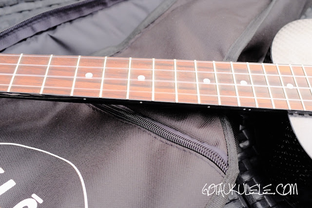 Klos Carbon Fibre Tenor Ukulele fingerboard