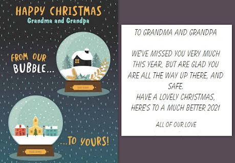 Moonpig Christmas personalised cards review card for grandparents