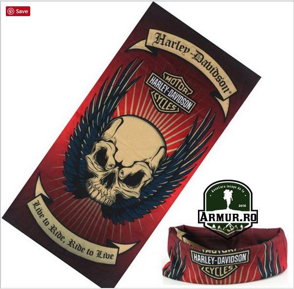 Bandana Rock Harley Davidson Moto