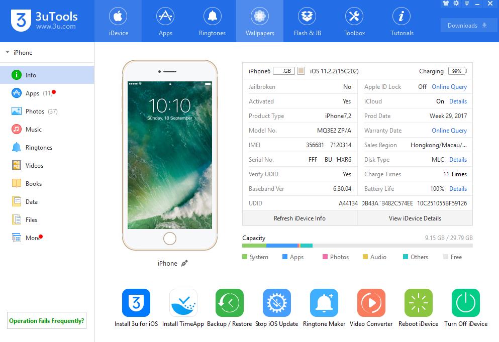 3utools Android Version