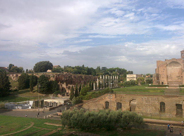 Looking out from the Colosseum