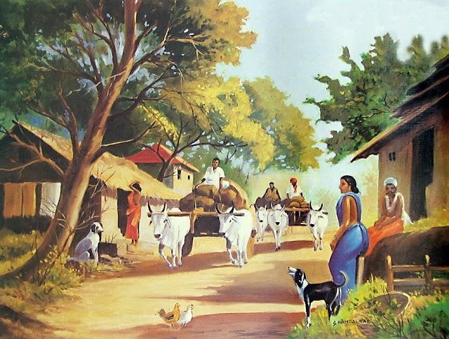 Ganv (village) purani yaade shayari status pic