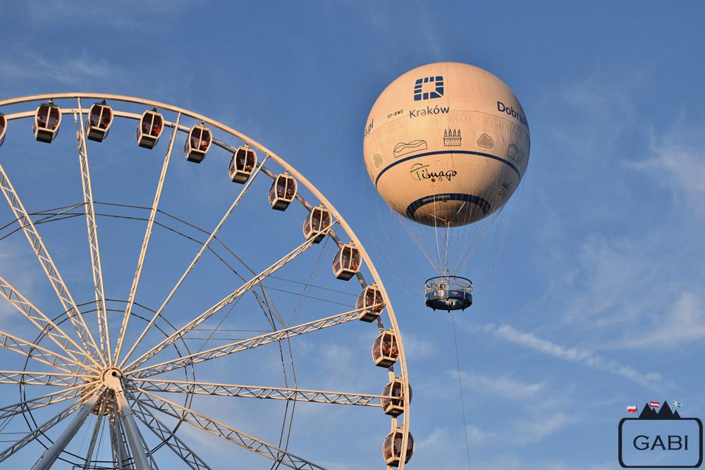 Kraków balon widokowy