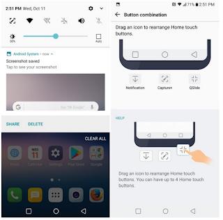Cara Mengambil Screenshot di LG G7 untuk mendapatkan hasil Tangkapan Layar di LG G7