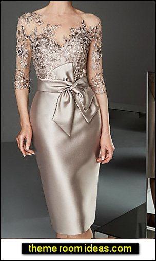 Party & Evening Elegant Slim Bodycon Dress - Solid Colored Boat Neck Spring Lace Gold formal dress party dress