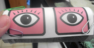 I Printed Out Some Eyes From Clip Art Just For The Shape Sometimes When Im Crafting Easiest Things Like Of Escape My Brain