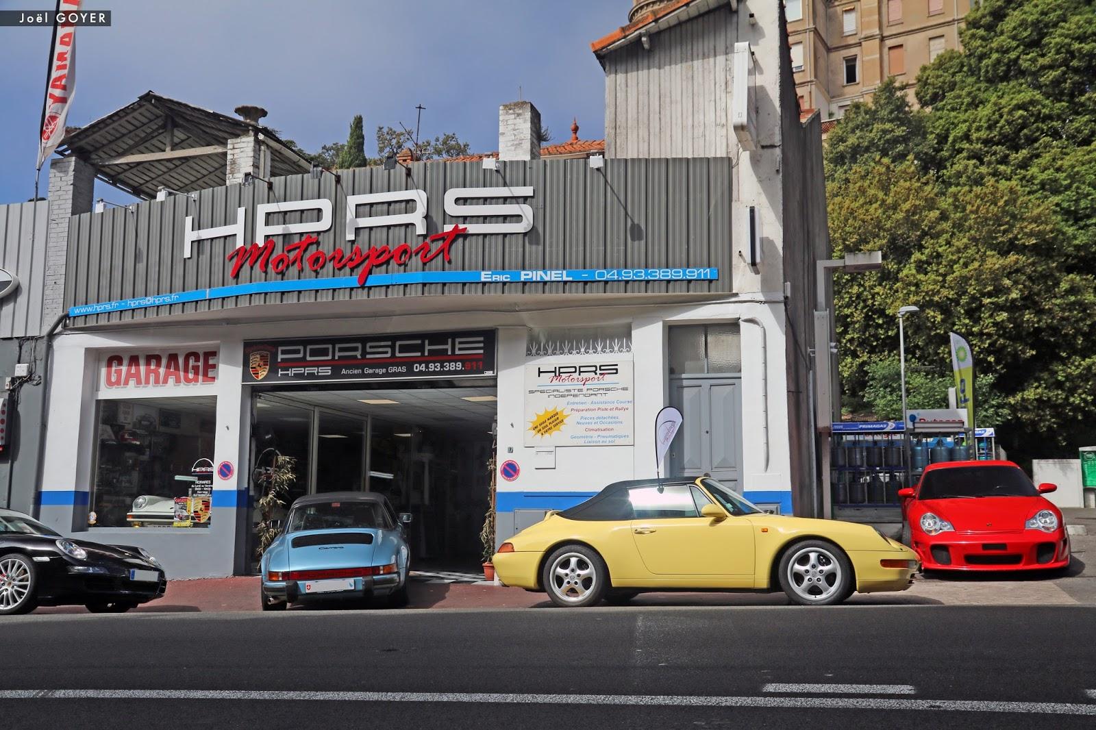 Jo l goyer design garage hprs motorsport cannes for Garage automobile montlucon