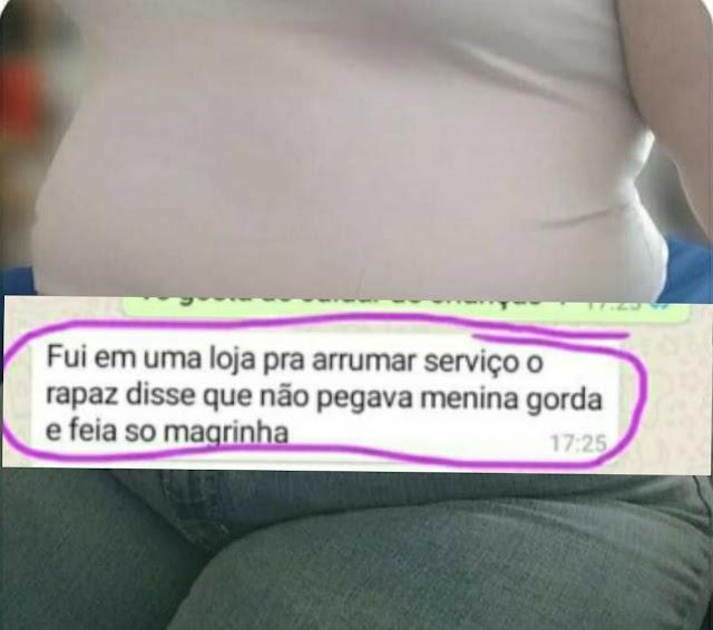 Rio Verde: Mulher em busca de emprego foi vítima de bullying e gordofobia