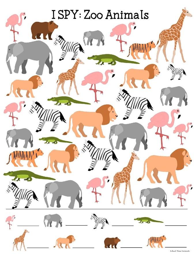 Free Printable I Spy Animal Activity