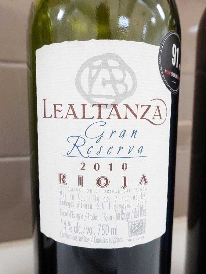 Lealtanza Gran Reserva 2010 (91 pts)