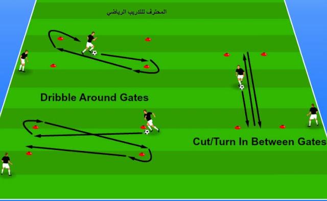 تمرين تقني - مهاري - لتحسين المراوغة للاعبي كرة القدم
