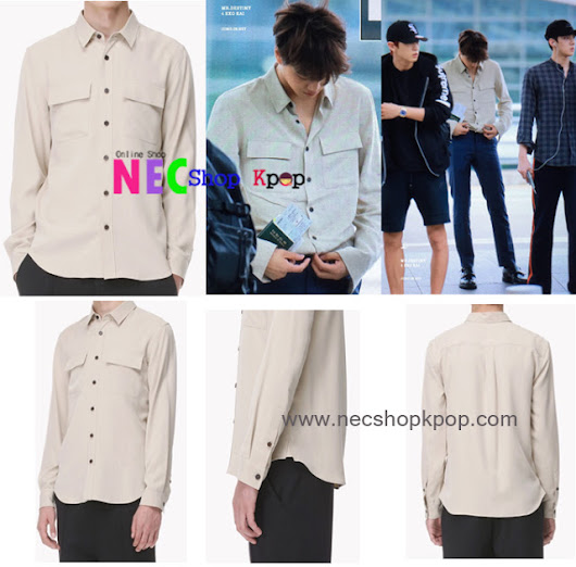 [EXO STYLE] Exo Style-Pocket Shirt (Cream)