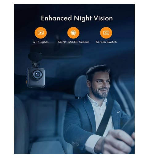 APEMAN C880 Dual Dash Cam Car Camera with IR Night Vision