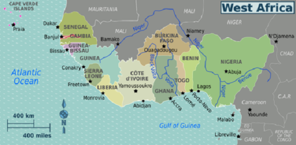 Africa Occidentale Cartina Geografica.Africa Occidentale Scuolissima Com