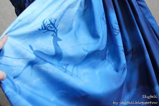 Christmas Santa Claus Elk Moon Print Skirt