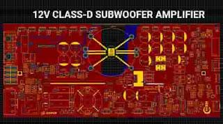 12V Class-D Subwoofer Amplifier