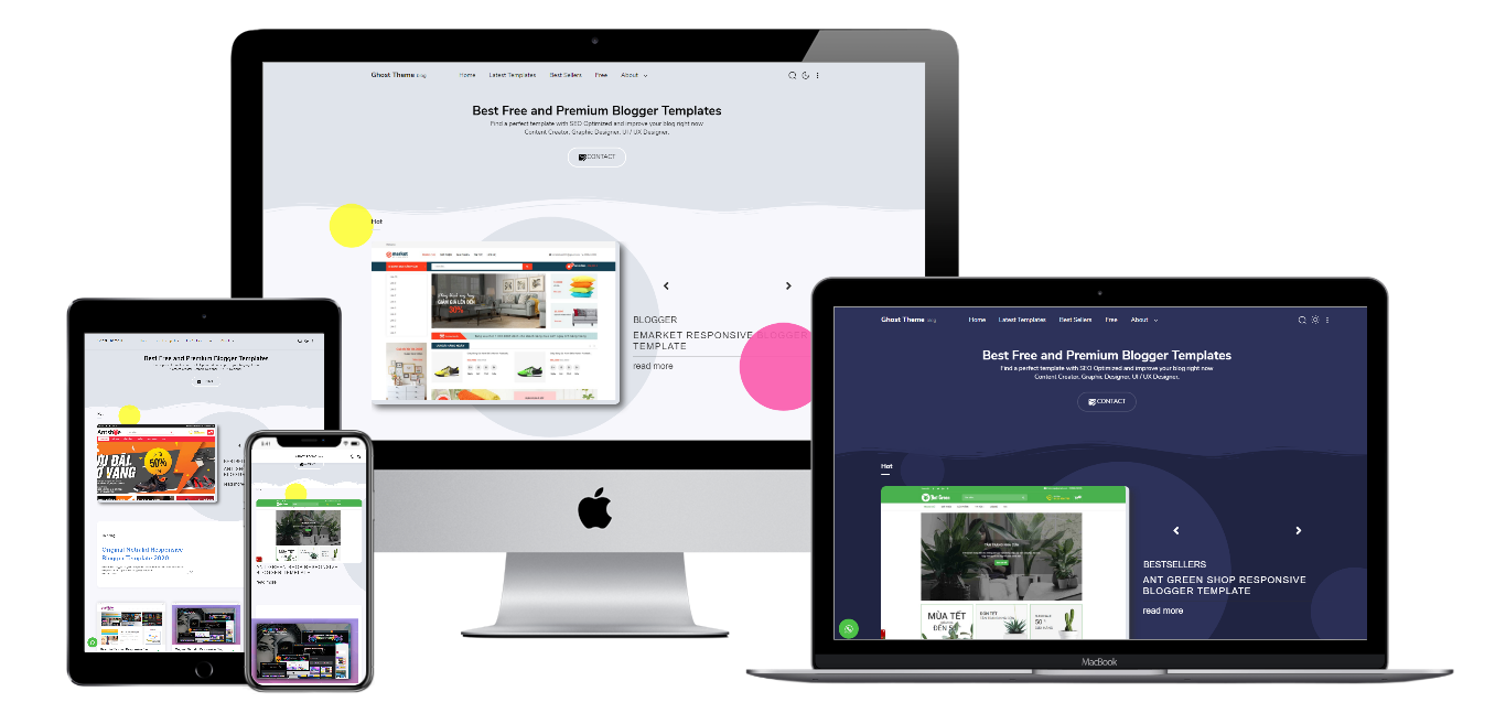 Download Ghost Theme Profesional Blogger Template