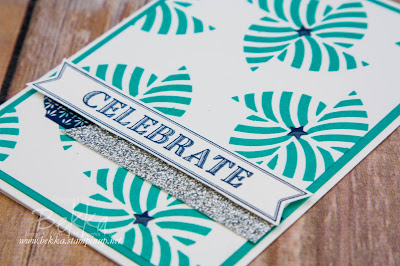 Swirly Bird Pinwheel Celebration Card Made with Stampin' Up! UK Supplies - Buy Stampin' Up! UK here