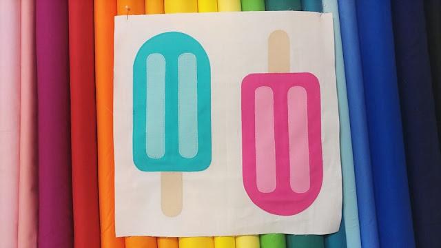 Popsicle Picnic quilt block pattern