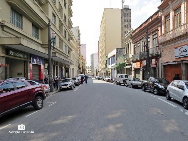 Rua Florêncio de Abreu durante a quarentena - São Paulo