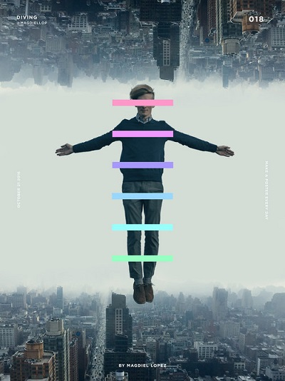 "por Magdiel Lopez, ""Diving"" 