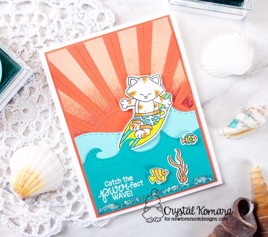 Catch the purr-fect wave by Crystal features Newton's Perfect Wave and Scuba Newton by Newton's Nook Designs; #newtonsnook, #handmade