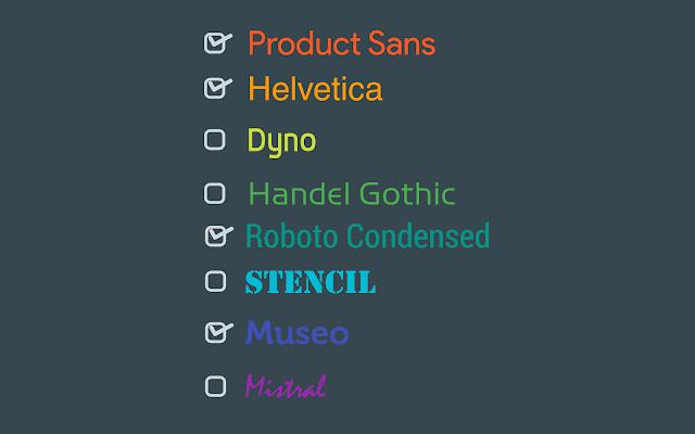 Font untuk desain, Jenis font untuk desain, Font desain