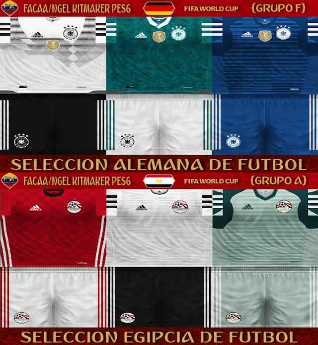 2a233dcbc PES 6 Egypt   Germany FIFA WC Russia 2018 Kits by FacaA Ngel Kitmaker