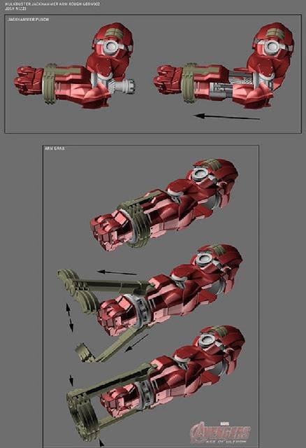 Diseños alternativos del Hulkbuster de Avengers 2