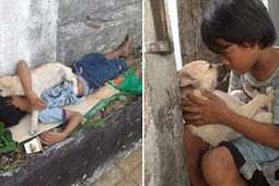 Lonely Homeless Boy Rescues A Street Pup, Doesn't Know Pup Will Return The Favor In Touching Way