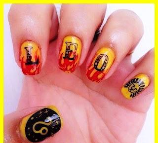 LEO nail art design