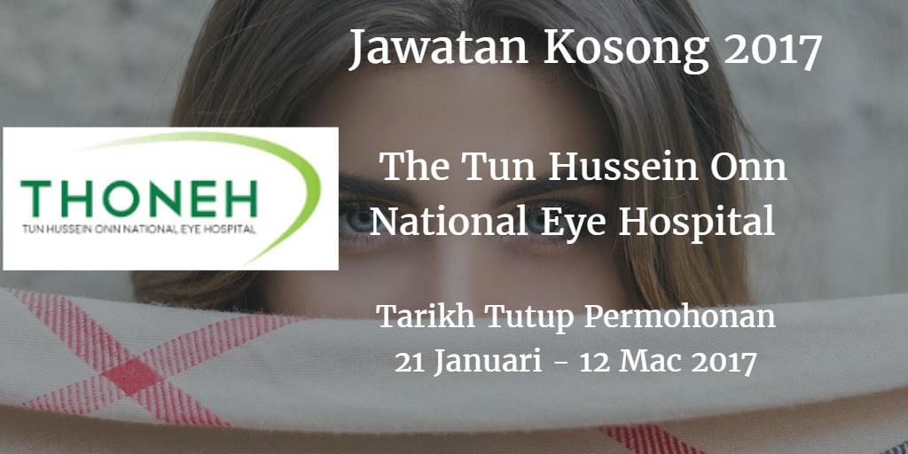 Jawatan Kosong The Tun Hussein Onn National Eye Hospital 12 Januari - 12 Mac 2017