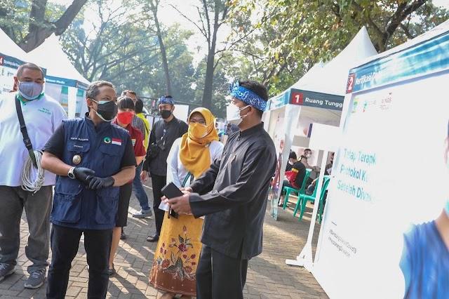 Sukseskan Vaksinasi, Pemkot Bandung Gandeng Wings Peduli Uji Coba Sentra Vaksinasi