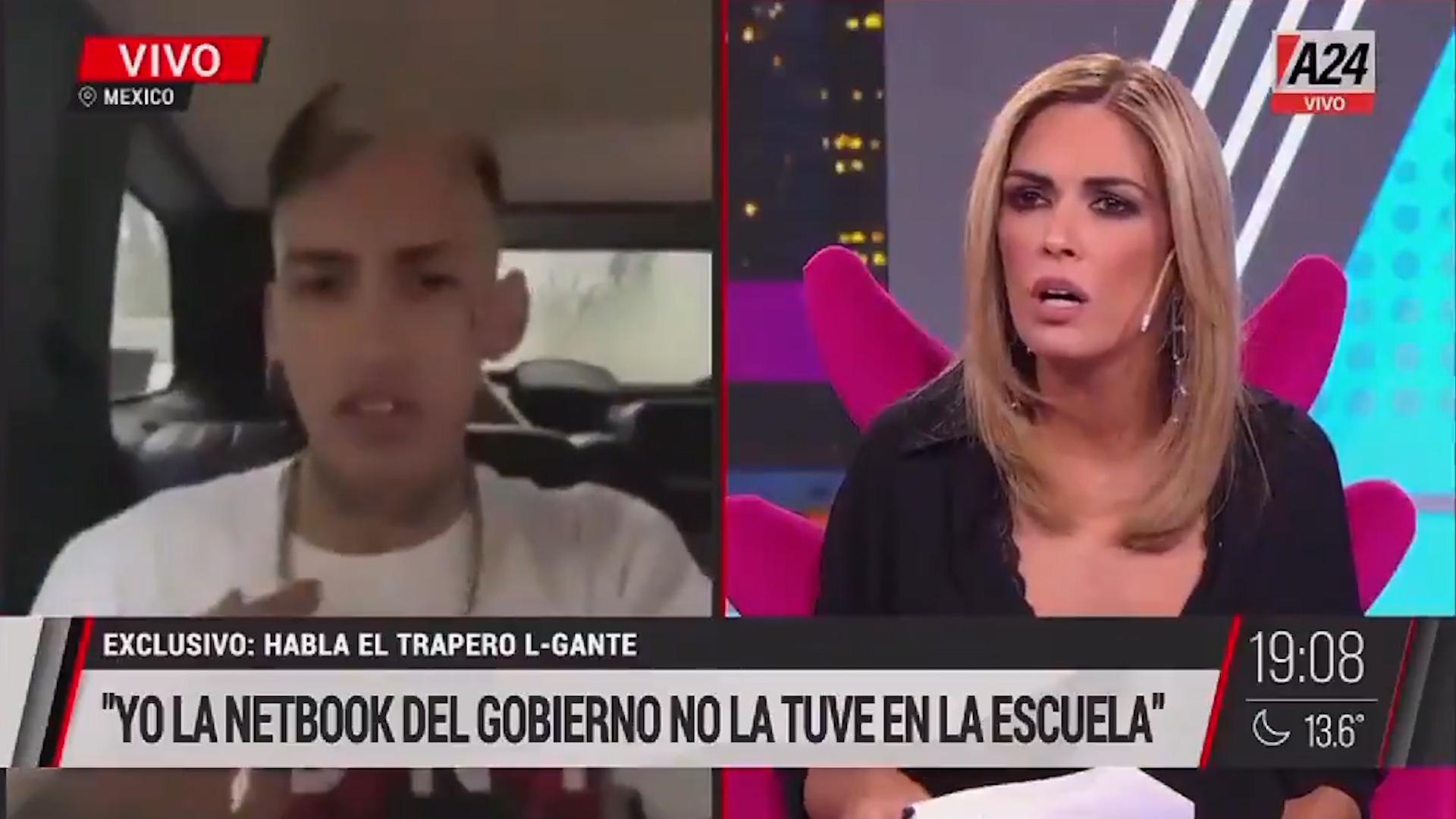 """L-Gante dio otra versión diferente a la de Cristina Kirchner sobre la computadora: """"La compré, no me la dieron en la escuela"""""""
