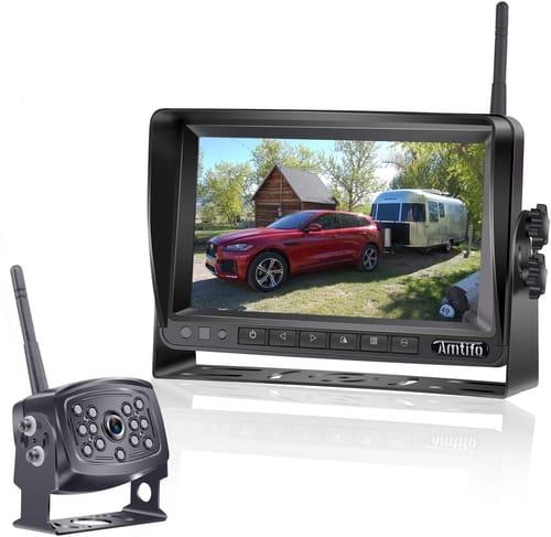 AMTIFO HD Car Backup Camera with 7 Inch Monitor