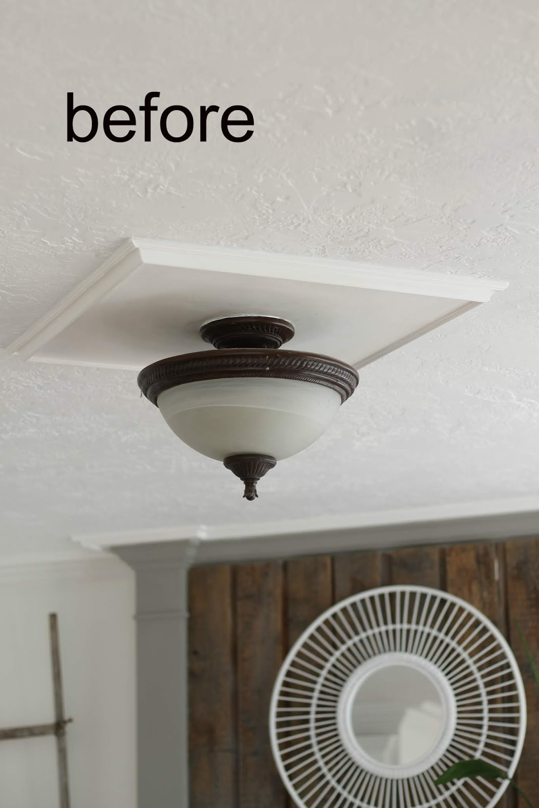 Diy Cottage Farmhouse Light Fixture Makeover The Wicker House