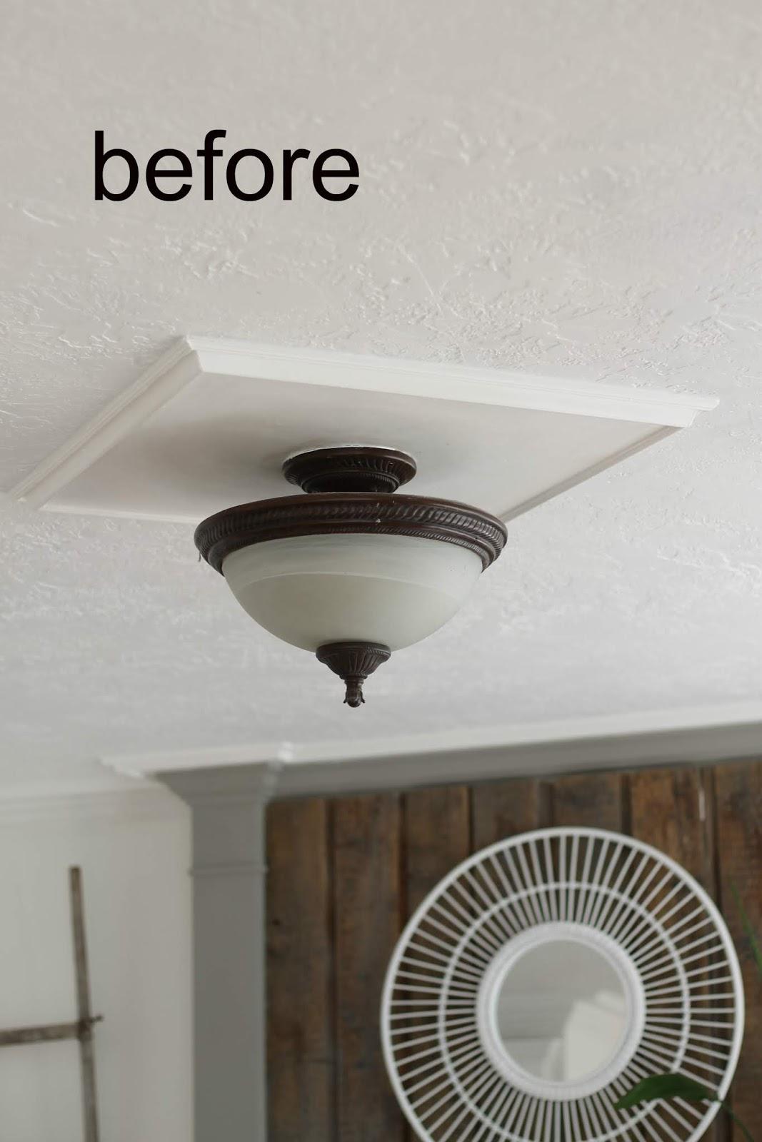 DIY Cottage Farmhouse Light Fixture Makeover