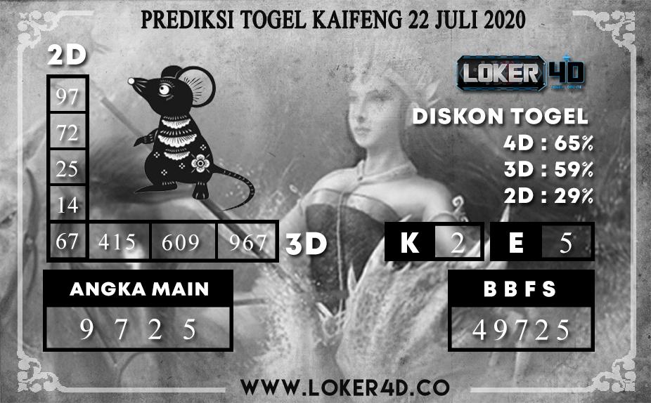 PREDIKSI TOGEL LOKER4D KAIFENG 22 JULI 2020