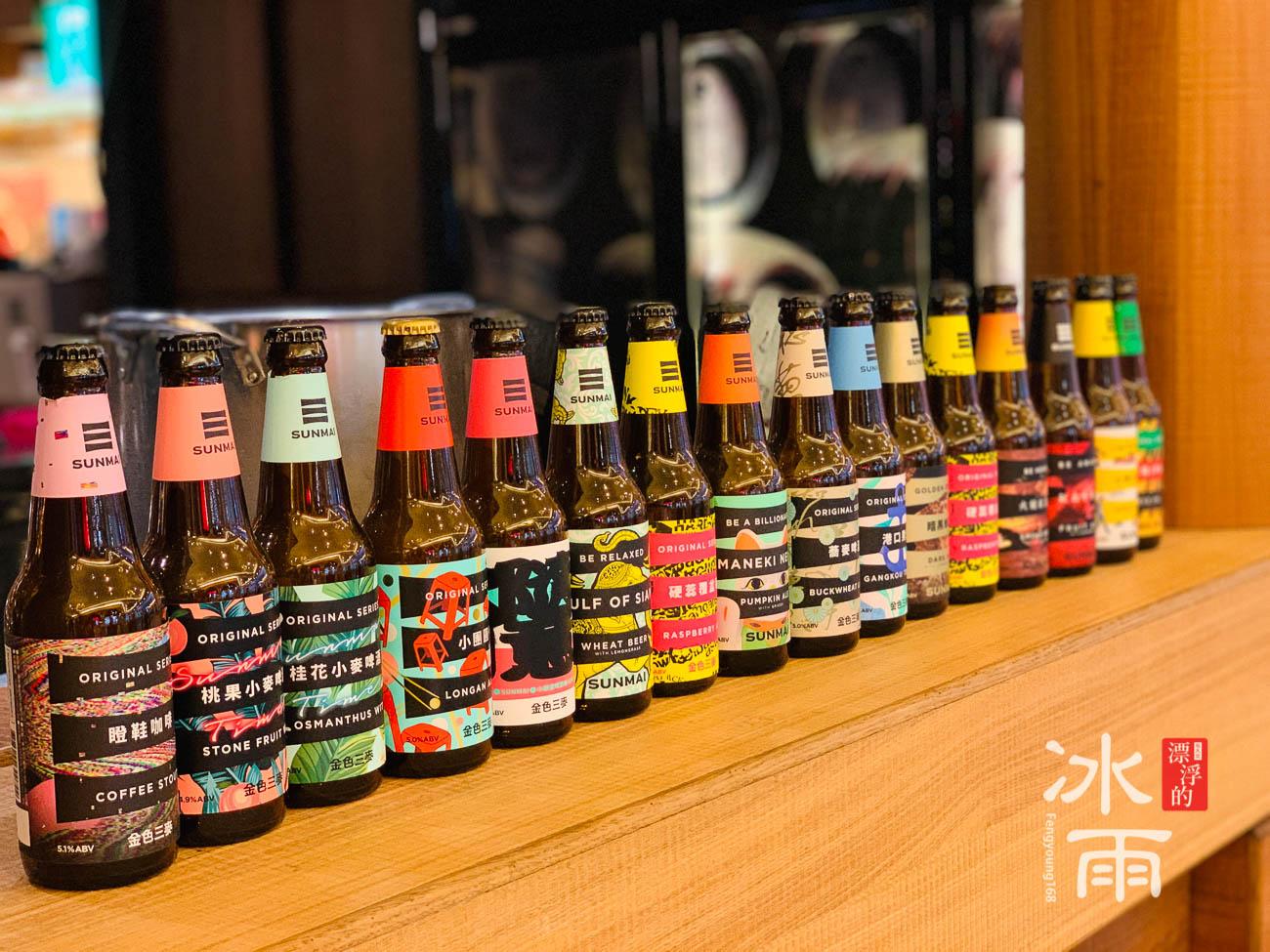 金色三麥板橋大遠百店 外帶區域有好多的啤酒可以選擇!