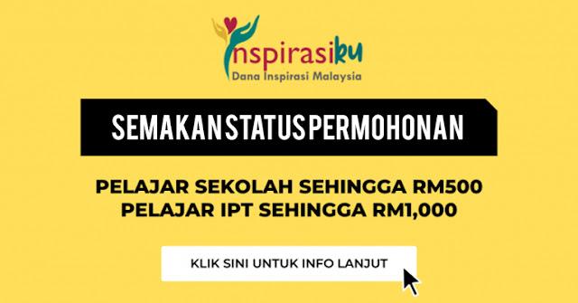 Semakan Status Permohonan Dana Inspirasi Malaysia Fasa 1 Kini Di Buka