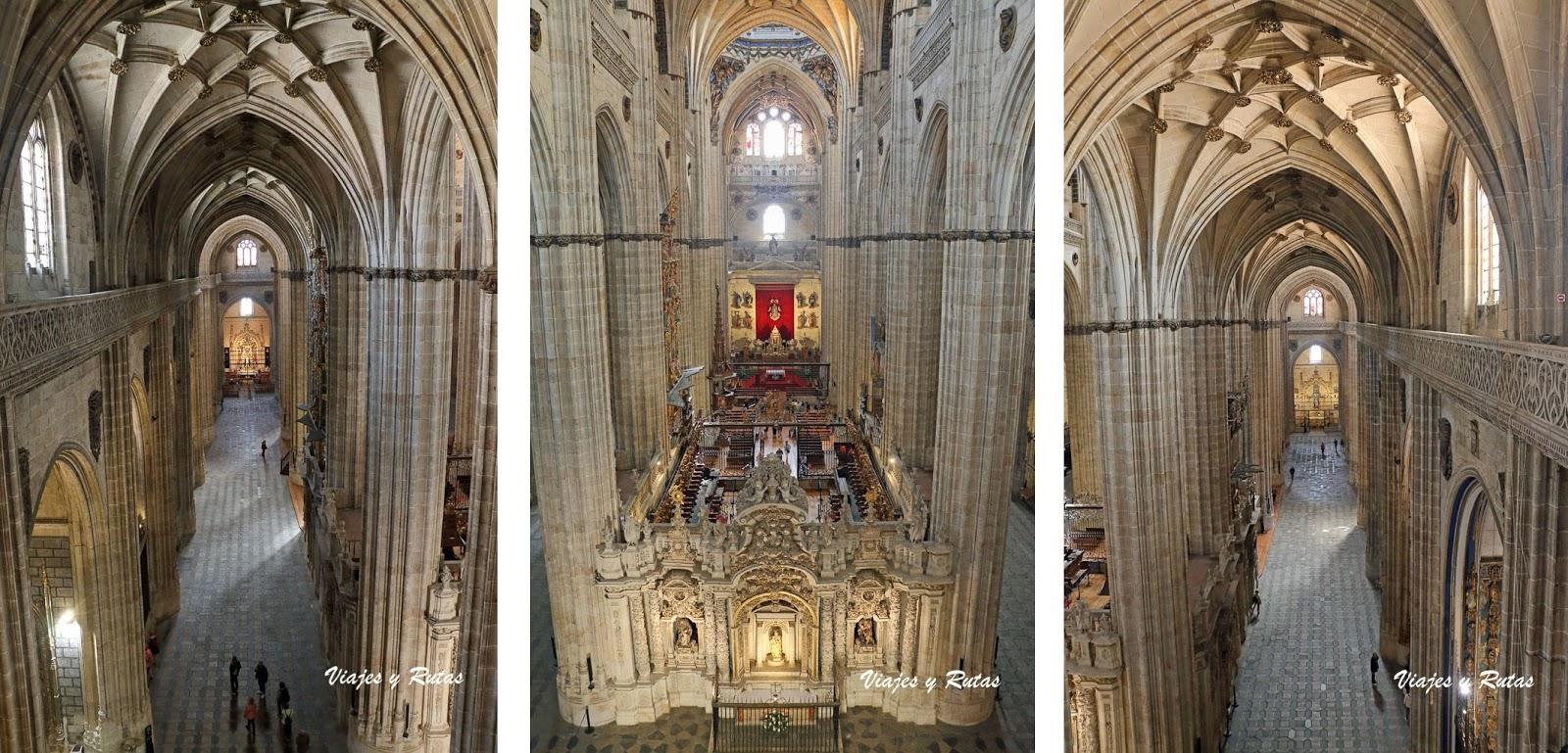 Interior de la catedral nueva de Salamanca