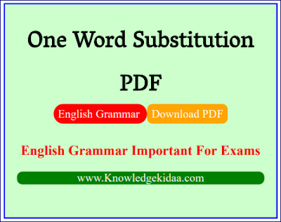 one word substitution pdf | Kiran | PDF Download | Hindi and English |