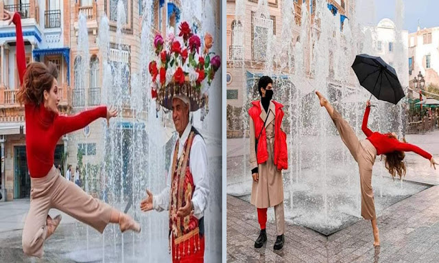توس: صور لراقصة باليه تثير إعجاب التونسيين