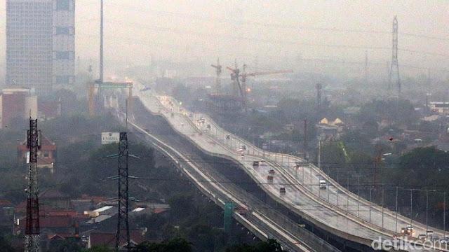 Foto Tol Jakarta-Cikampek Bergelombang