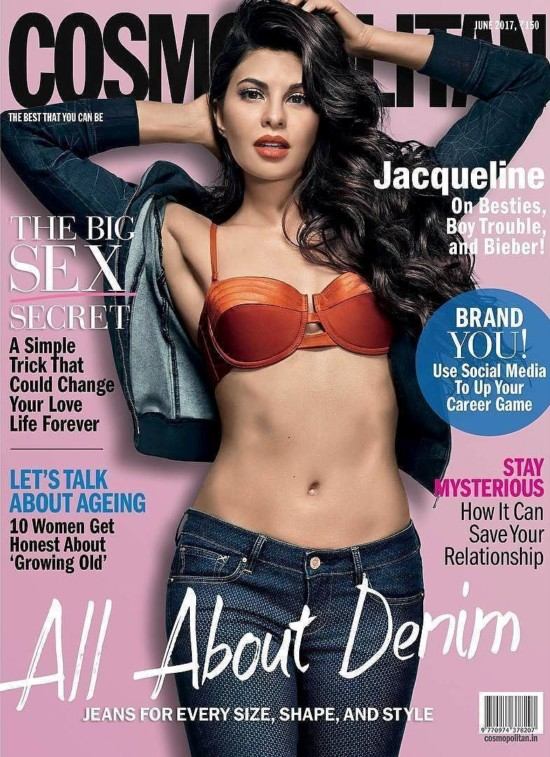 Jacqueline Fernandez Features on The Cover of Cosmopolitan India June 2017