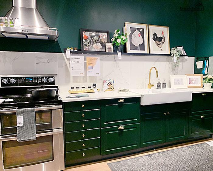 dark green kitchen