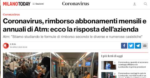 Trasporto pubblico, perché ATM rimborsa e ATAC no
