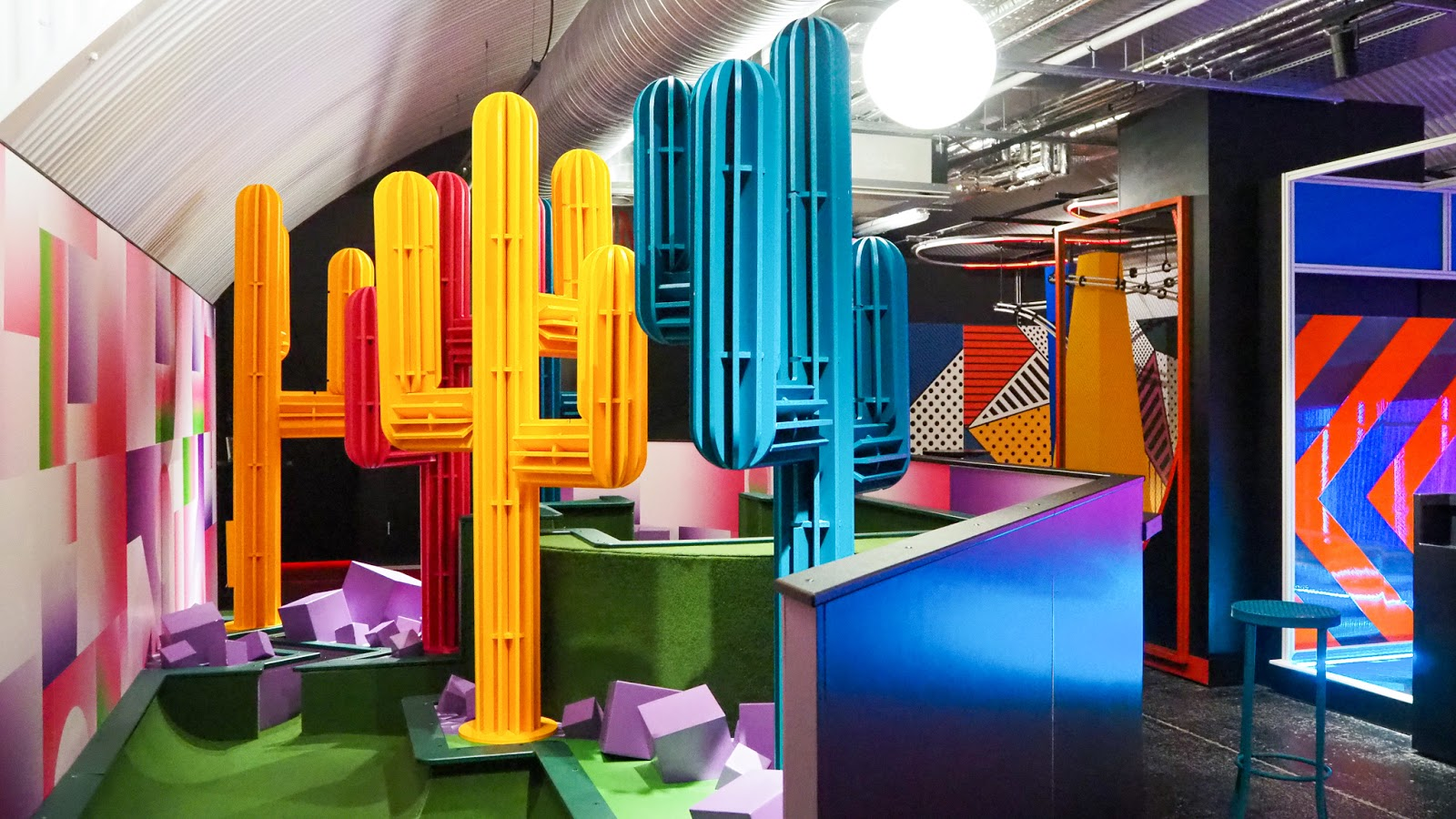 crazy golf course at Battersea Power Station